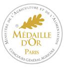 Concours Général Agricole Paris 2020 : Médaille d'Or !